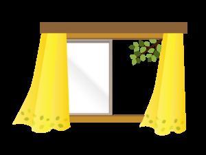 窓の空いた窓