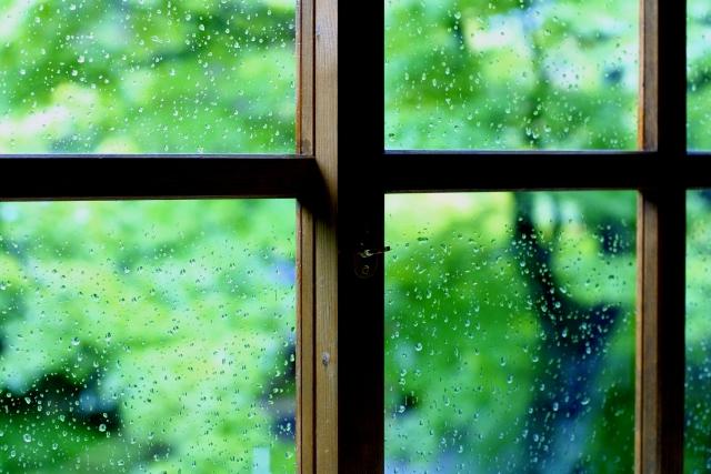 梅雨の窓際