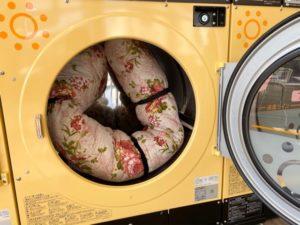 敷布団を乾燥機にいれたところ