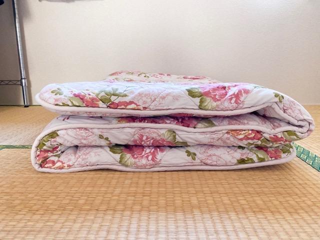 洗濯乾燥後の敷布団